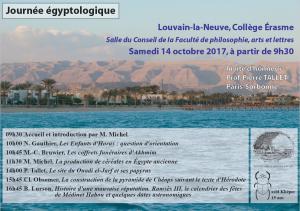 Egyptologie 14 oct 2017
