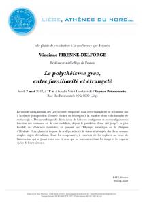 Conférence V. Pirenne - Le polythéisme grec